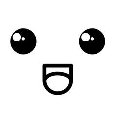 Face kawaii character icon vector