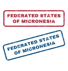 Federated states of micronesia rubber stamps vector