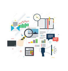 financial investment in business vector image
