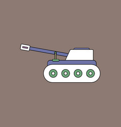 Flat icon design collection military tank vector