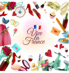 France paris frame background vector