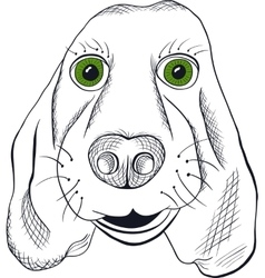 Hand drawn portrait of dog vector