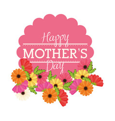 Happy mothers day flowers card vector