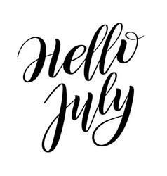 Hello july greeting spring vector