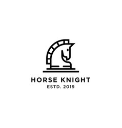 horse knight logo design inspiration vector image