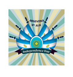 independence day of argentina with vector image