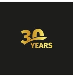 Isolated abstract golden 30th anniversary logo vector