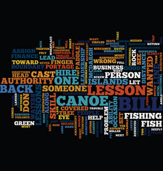 Lessons in leadership what not to do from a canoe vector