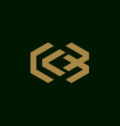 letter cb initial symbol logo design vector image