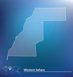 Map of Western Sahara vector