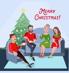 merry christmas celebration new year vector image