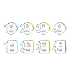 Mindfulness stress tea cup and heart rating icons vector