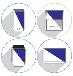 Modern devices icons vector image