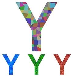 Mosaic font design - letter Y vector