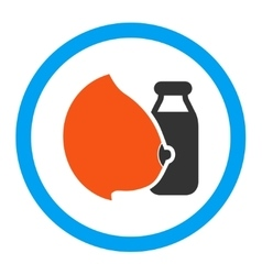Mother Milk Rounded Icon vector