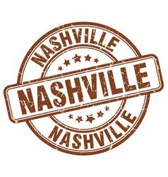 Nashville brown grunge round vintage rubber stamp vector