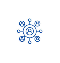 Network business line icon concept network vector