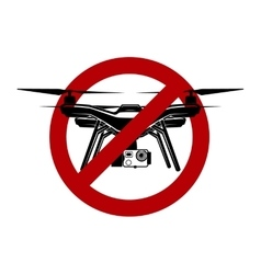 no airdrone quadrocopter zone vector image