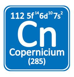 periodic table element copernicium icon vector image