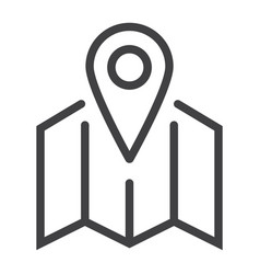 pinpoint on map line icon geolocation vector image