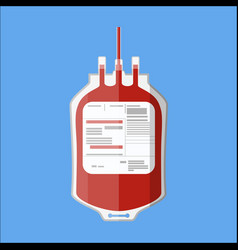 plastic blood bag donate blood concept vector image