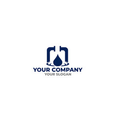 Plumbing service logo design vector