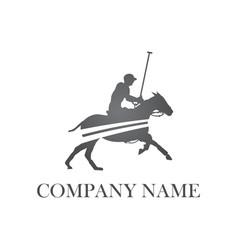polo player logo vector image