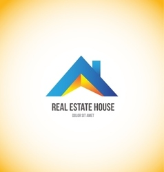 Real estate house roof home logo vector