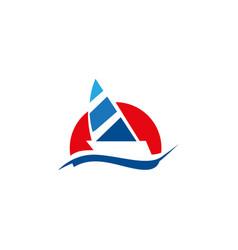 sailing boat image vector image
