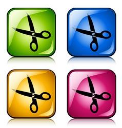 scissors buttons vector image