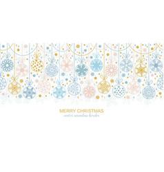 seamless snowflake border christmas design vector image