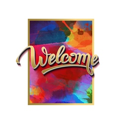 Sign symbol word welcome vector image