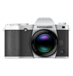 SLR retro camera vector