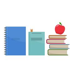 Stack of school books vector