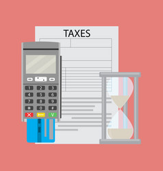 Tax document and transfer paying money vector