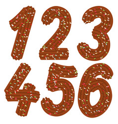 tempting tipography font design 3d numbers 123456 vector image