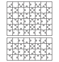 Two white puzzle vector