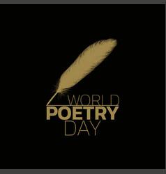 World poetry day logo icon design vector