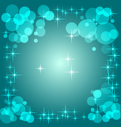 Blue gradient background with bokeh vector