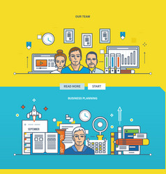 business planning and our team vector image vector image