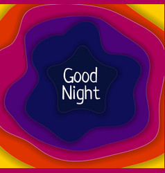 good night abstract background vector image