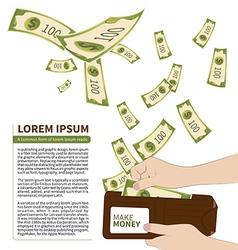 Make money vector image vector image