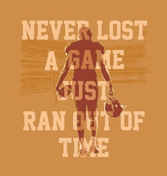 never lost a game football vector image
