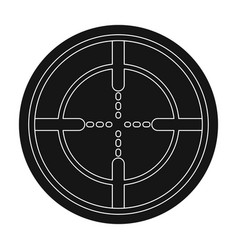 optical sightpaintball single icon in black style vector image