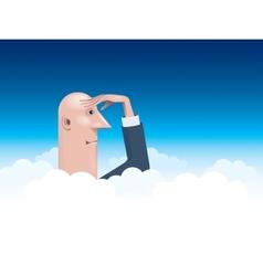 Businessman looking forward vector image vector image