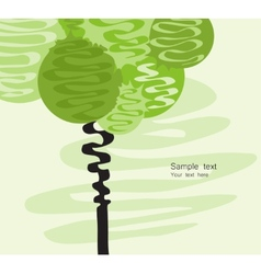 Card with stylized art tree vector image