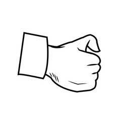 cartoon hand man physician image vector image