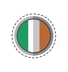 cartoon st patricks day irish flag emblem vector image vector image