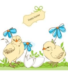 easter chicken vector image vector image