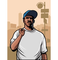 gangster pointing hand vector image vector image